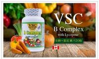 簡單壹粒!富含多種人體必須維生素!【加拿大VSC維他命B+茄紅素 120粒】原價$25,優品價16.88(含税)! 能促進人體代謝,有助神經與肌肉的運作功能。並減少心臟疾病丶紫外線對皮膚的傷害及癌癥的發生,綜合解決人體的營養需求!調節新陳代謝,緩解疲勞!
